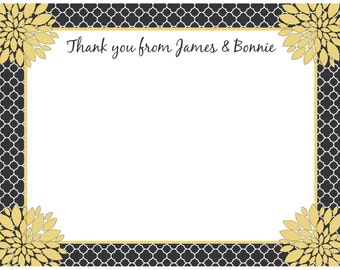 20 - Personalized 50th Anniversary Thank You Cards -  Love Blossoms
