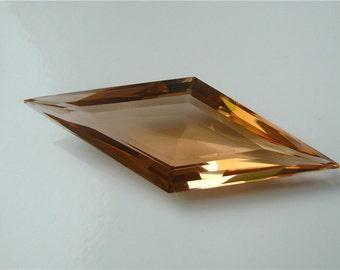 Exquisite AAA Orange Citrine Rare Cut Elongated Diamond Focal Pendant semi precious bead Gemstone 16mm x 45mm (24.60 carats)