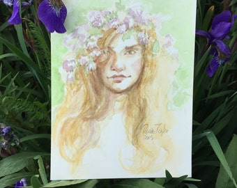 portrait of a fairy by Renae Taylor (original painting)