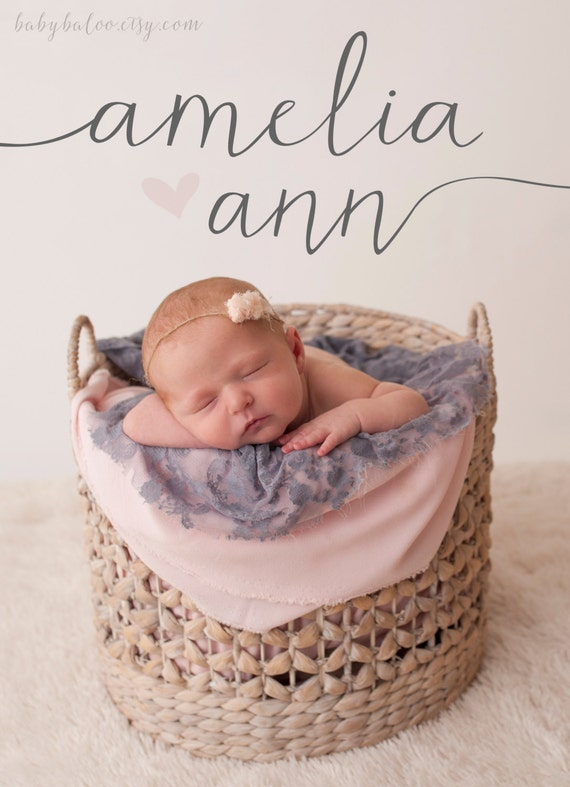 Baby Girl BIRTH ANNOUNCEMENT Double sided worth the wait – Baby Girl Birth Announcement Quotes