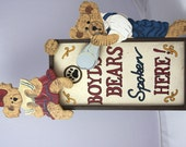 Vintage Boyds Bears Spoken Here SIGN, Collectible Easel Type Stand alone Sign Display with Boyds Bears.