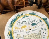 letterpress national parks spinner volvelle