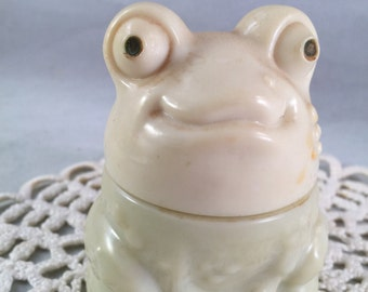 Vintage Avon Frog Glass Lotion Container