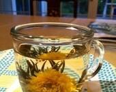 Flower ball of green tea, dancing snowflakes greeting spring, 4 balls
