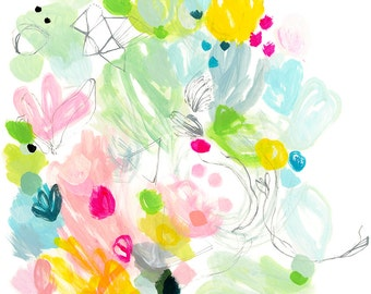 NEW! abstract fine art print . mind wanders . a4 - a2, three sizes . free shipping within australia