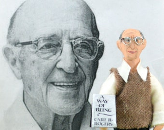 Carl Rogers Doll Miniature Historical Psychology by Uneek Doll Designs
