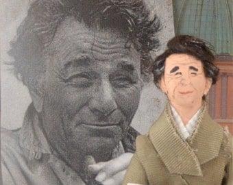 Peter Falk Doll Miniature Television Star Fan Art Character