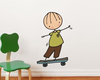 Skateboard hero - Wall Decal - Wall Sticker
