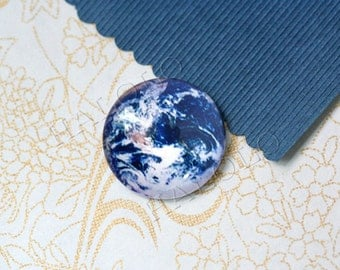 handmade the earth glass cabochons 25mm (250670)