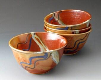 Small Ceramic Bowl - Khaki and Shino - Clay Bowl