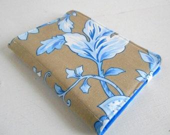 mini list coupon organizer memo pad holder botanical brown blue