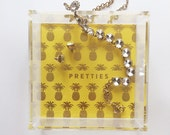 Gold Foil Pineapple Lucite Tray - Pretties - Wedding Gift - Graduation Gift - Organizational, Desktop Accessory, catch all - at Target