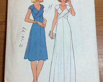 1976 Simplicity 7803 Retro Mod Sewing Pattern Vintage Size 7-9 gorgeous dresses gown RARE ITEM