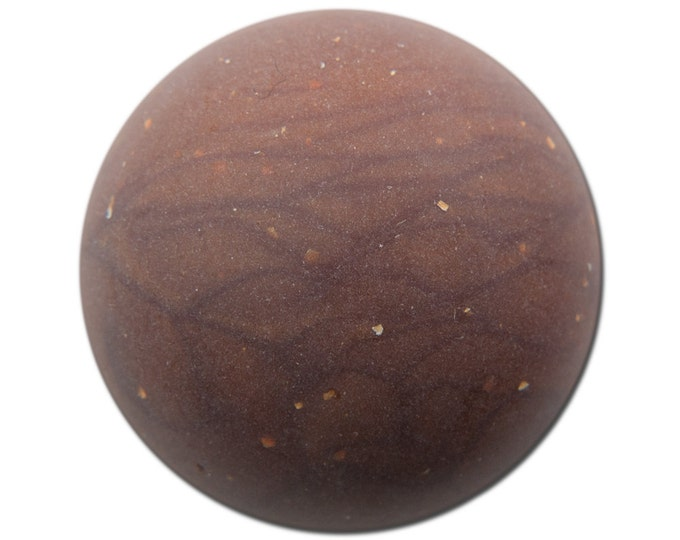 Vintage Matte Brown Marbled Acrylic Domed Cabochons 30mm (2) cab814G