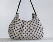 Pleated Bag // Shoulder Purse - Crosshatch Linen in Natural