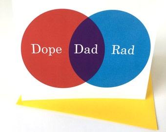 Venn Diagram // Dope Rad Dad // Birthday // Fathers Day // Blank Inside