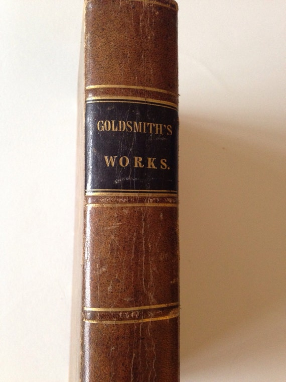 1844 Oliver Goldsmith The Miscellaneous Works with an Account of his Life and Writings