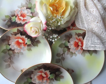 Vintage Noritake Floral Dessert Plates Set of Six - Vintage Beauty