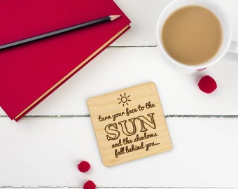Pair Of Motivational Quotation Display Coasters