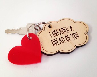 Personalised Dream Cloud Key Ring