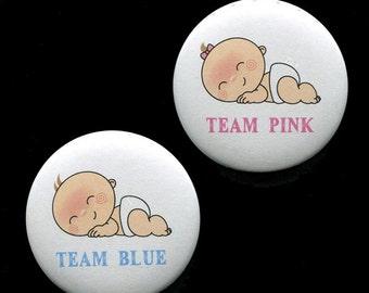Gender Reveal Button - Baby Shower Button - Gender Reveal Pin - Baby Shower Pin - Baby Shower Favor - Baby Shower Game - 2.25 inch