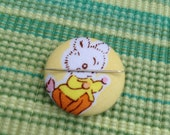 Bunny Needle Minder Needle Keeper Magnetic Needle Keep Bunny Needle Keep Pin Keep Embroidery Supplies Sewing Supplies Milk Flower Sugar