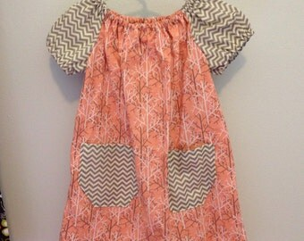Short Sleeve Peasent Dress size 2/3T