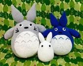 Amigurumi Totoro / Baby Totoro and Tiny Totoro / Handmade Totoro / Crocheted Totoro -  Set of 3