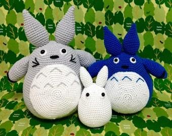 SALE 50% OFF Amigurumi Totoro / Baby Totoro and Tiny Totoro / Handmade Totoro / Crocheted Totoro -  Set of 3