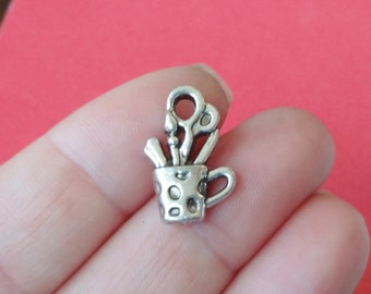 10 Crafter Cup Charms (3D) 12x20x5mm, Hole Approx. 3mm ITEM:AR1