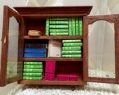 Doll House Bookcase with paper books made in Japan