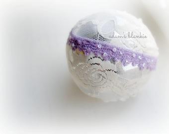 Lilliana - Lilac Lavender Purple Lace Headband - Sequins - Vintage Style - Girls Newborns Baby Infant Adults
