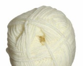Winter WHITE yarn DREAMBABY Soft DK  light weight Baby Off White vegan acrylic microfiber and nylon Yarn color 100