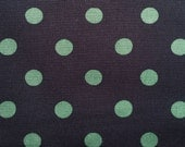 4053 - Cath Kidston Button Spot (Dark Brown) Cotton Canvas Fabric - 57 Inch (Width) x 1/2 Yard (Length)