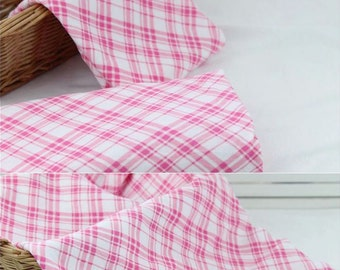 3995 - Checked Cotton Jersey Knit Fabric - 69 Inch (Width) x 1/2 Yard (Length)