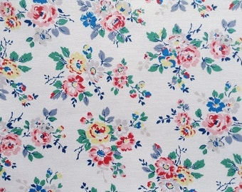 4000 - Cath Kidston Kingswood Rose (Light Beige) Cotton Canvas Fabric - 57 Inch (Width) x 1/2 Yard (Length)