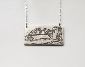 New York City Jewelry - Queens Necklace - Silver NYC Jewelry - Queens Jewelry - Hellgate Bridge
