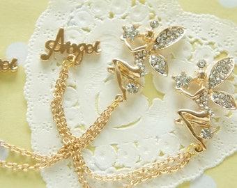 1 pcs Angel / Fairy Tinckerbell Chain Charm (22mm36mm) AZ157