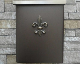 Fleur De Lis Mailbox New Orleans Oil Rubbed Bronze
