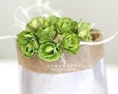 30 Moss Green paper flowers