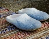 Husband gift - Handmade felt wool Mens slippers womens Gray slippers