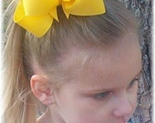 CUSTOM Large Double Stacked Grosgrain Hair Bow - In Your Choice of Over 100 Colors