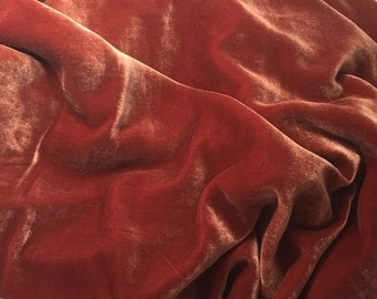 ROSE GOLD Silk Velvet Fabric - 1 Yard