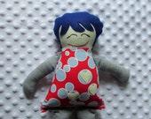 Megan Small Handmade Fabric Baby Doll