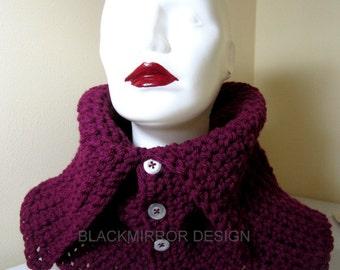 Handmade  Plum crochet scarf collar
