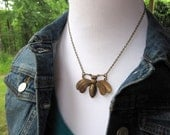 Bee Necklace, Woodland Necklace, Nature Inspired, Bold, Nature Lover, Insect Necklace, Bug Jewelry, Bumble Bee, Antique Brass, Bee Lover