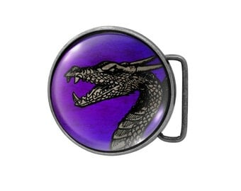 Belt buckle Dragon Antiqued Silver Gifts for him Gifts for her