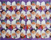 New Victorian Scrap Paper 48 Santa Belsnickle Heads Christmas