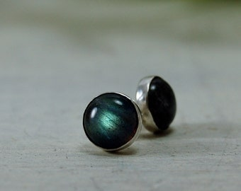 Labradorite stud Earrings Sterling Silver Posts Earrings