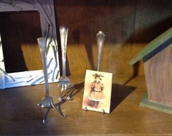 Picture holder forks